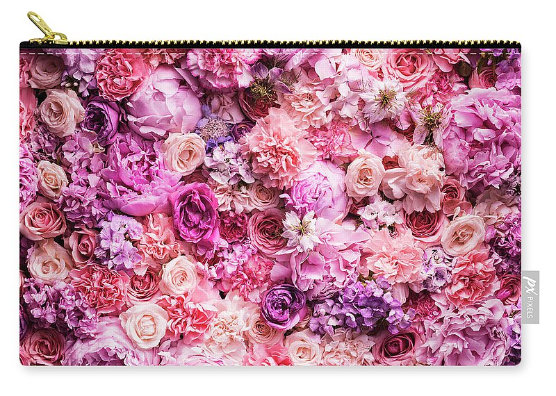 Tranquility Carry-all Pouch featuring the photograph Various Cut Flowers, Detail by Jonathan Knowles