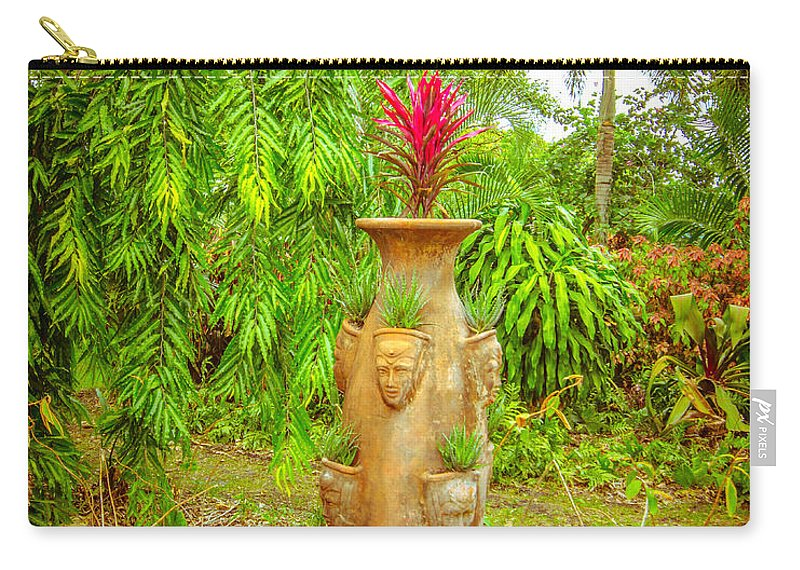 Vase Carry-all Pouch featuring the photograph Vase's Faces by Shirley Tinkham