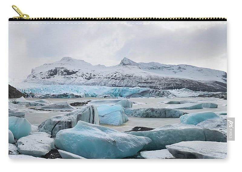 Scenics Carry-all Pouch featuring the photograph Vatnajokull Glacier, Iceland by Travelpix Ltd