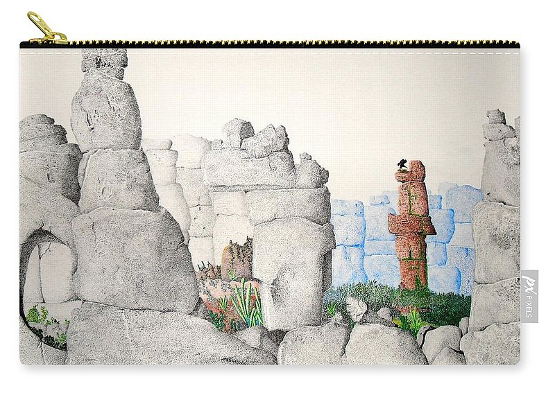 Landscape Carry-all Pouch featuring the painting Vaulting by A Robert Malcom