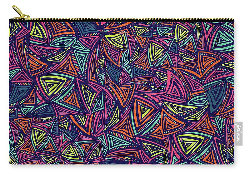 Cool Attitude Carry-all Pouch featuring the digital art Vector Colorful Seamless Pattern With by Tatiana kost