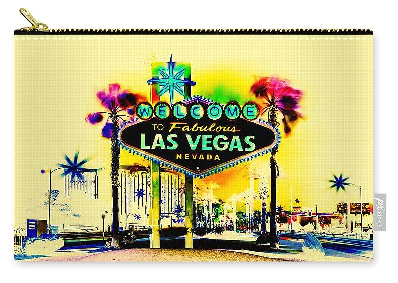 Las Vegas Carry-all Pouch featuring the digital art Vegas Weekends by Az Jackson