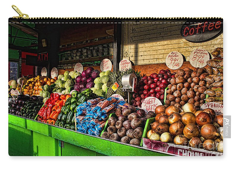 Greenwich Village Carry-all Pouch featuring the photograph Greenwich Village Market by Betsy Foster Breen