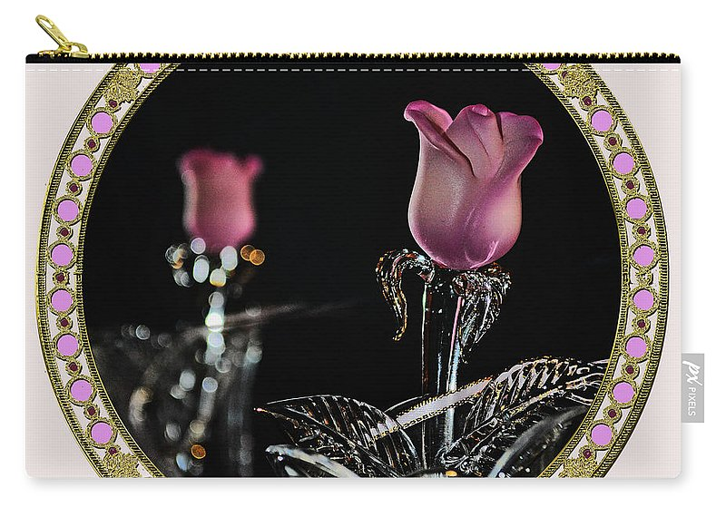 Crystal Carry-all Pouch featuring the photograph Veiled Love by Tikvah's Hope