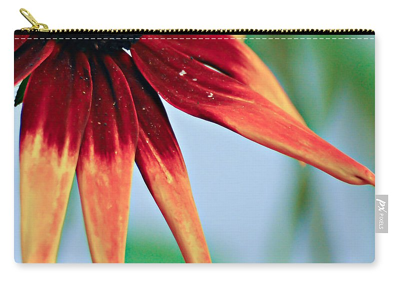 Flower Carry-all Pouch featuring the photograph Velvet Petals by Kerri Farley