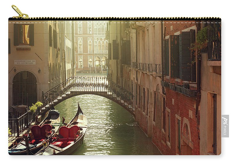 Veneto Carry-all Pouch featuring the photograph Venetian Canal by Mammuth