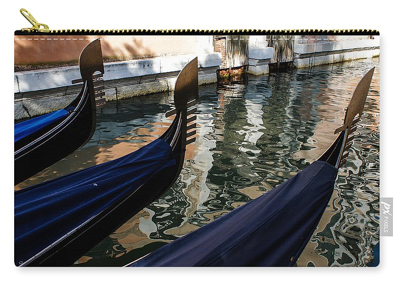 Gondola Carry-all Pouch featuring the photograph Venetian Gondolas by Georgia Mizuleva
