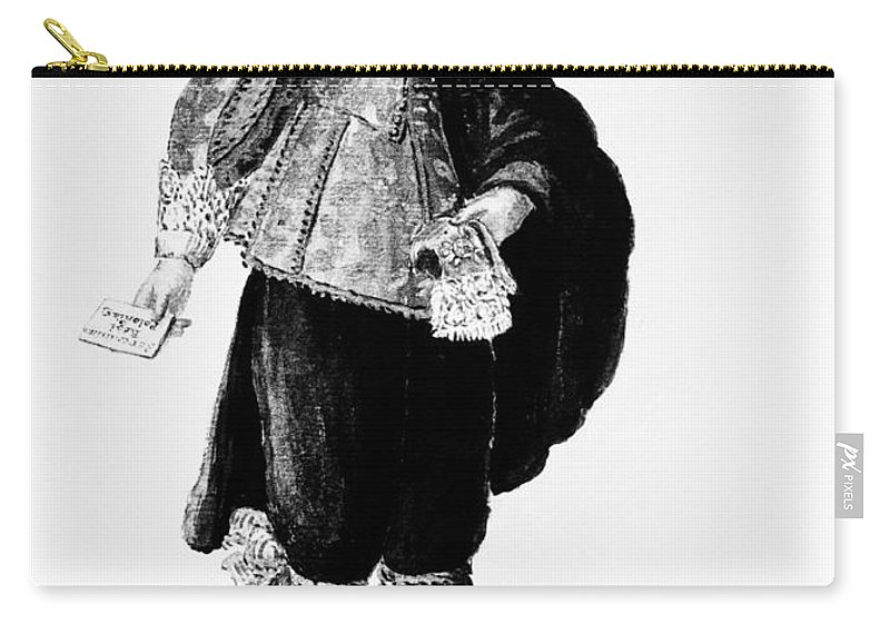 18th Century Carry-all Pouch featuring the painting Venetian Man, 18th Century by Granger