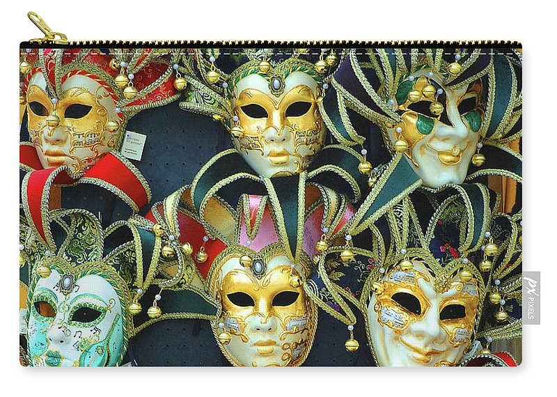 Venice Carry-all Pouch featuring the photograph Venetian Opera Masks by George Buxbaum