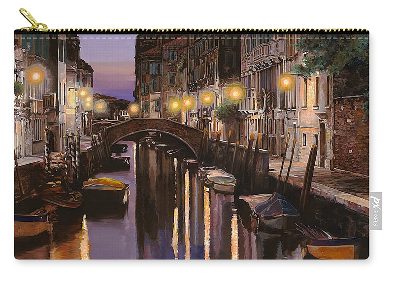 Venice Carry-all Pouch featuring the painting Venezia Al Crepuscolo by Guido Borelli