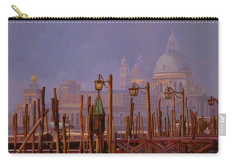 Venice Carry-all Pouch featuring the painting Venezia E La Nebbia by Guido Borelli