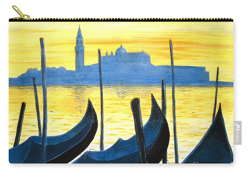 Venice Carry-all Pouch featuring the painting Venezia Venice Italy by Jerome Stumphauzer