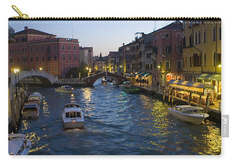Travel Carry-all Pouch featuring the photograph Venice At Dusk by Jason O Watson