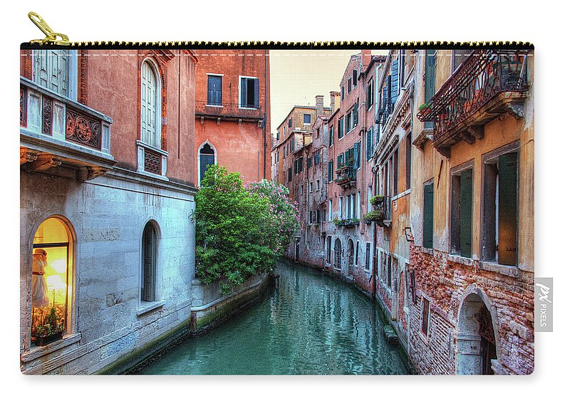 Tranquility Carry-all Pouch featuring the photograph Venice Canals by Emad Aljumah