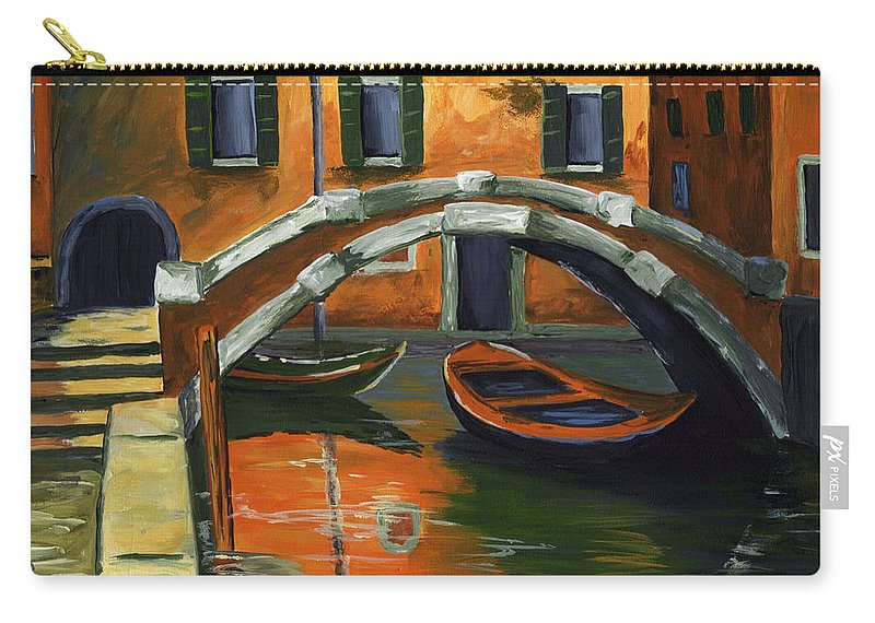 Venice Carry-all Pouch featuring the painting Venice by Voros Edit