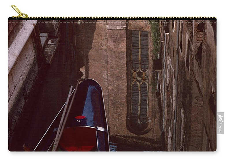 Venice Carry-all Pouch featuring the photograph Venice Gondola by David Hohmann