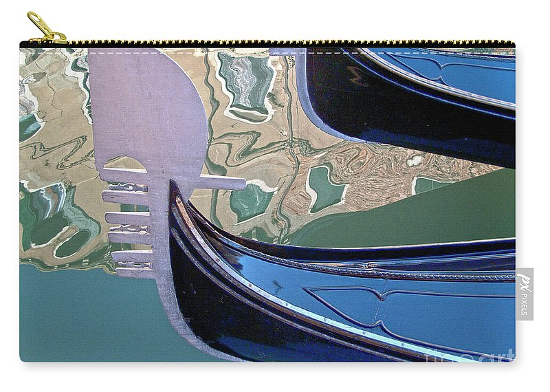 Venice Carry-all Pouch featuring the photograph Venice Gondolas by Heiko Koehrer-Wagner