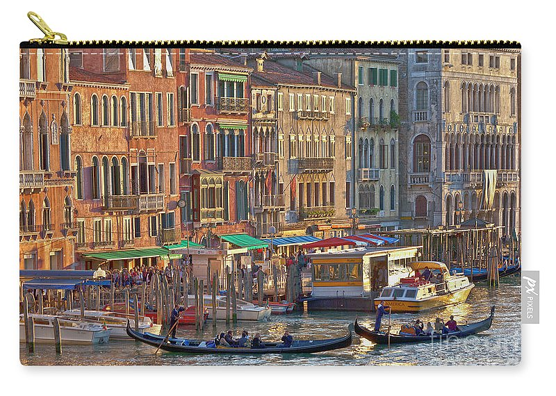 Venice Carry-all Pouch featuring the photograph Venice Palazzi At Sundown by Heiko Koehrer-Wagner