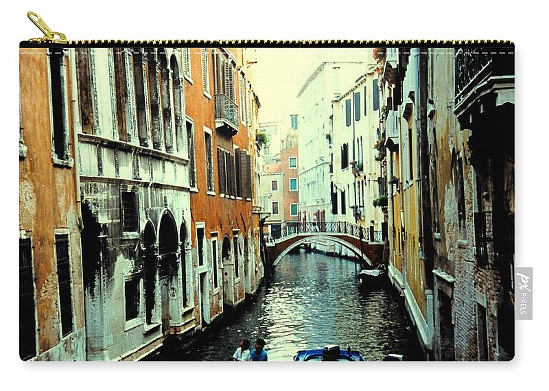 Venice Carry-all Pouch featuring the photograph Venice Street Scene by Ian MacDonald