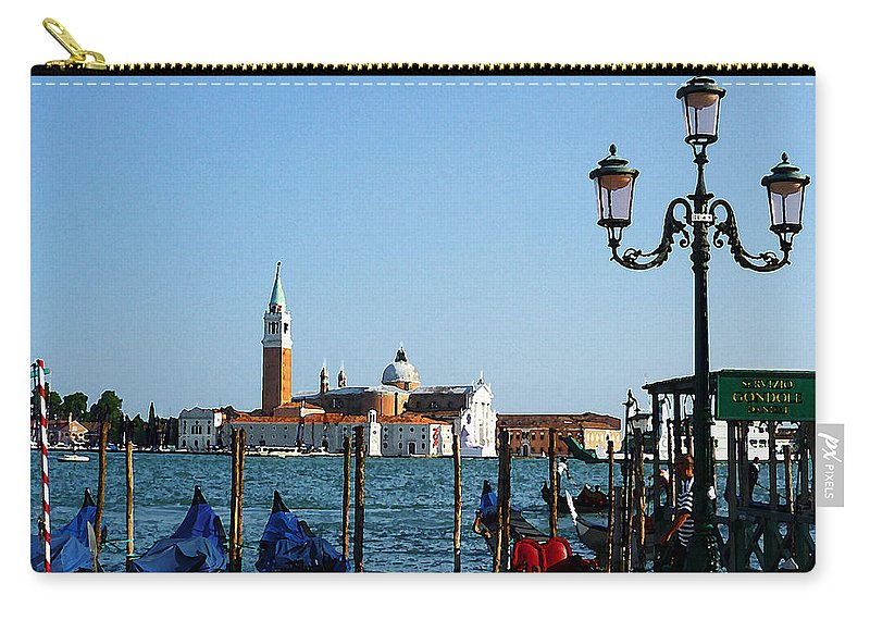 Italy Carry-all Pouch featuring the photograph Venice View On Basilica Di San Giorgio Maggiore by Irina Sztukowski