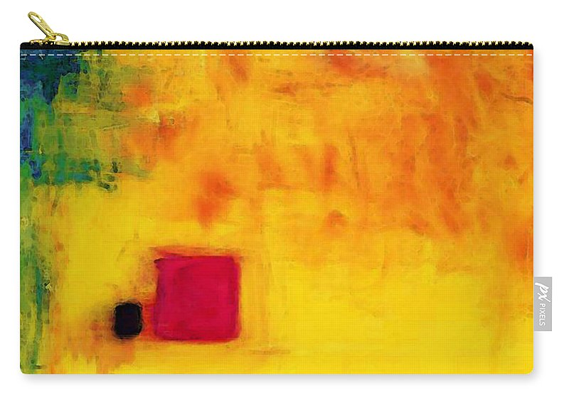 Yellow Carry-all Pouch featuring the painting Venus Rising - Remastered Mixed Media Art By Sharon Cummings by Sharon Cummings