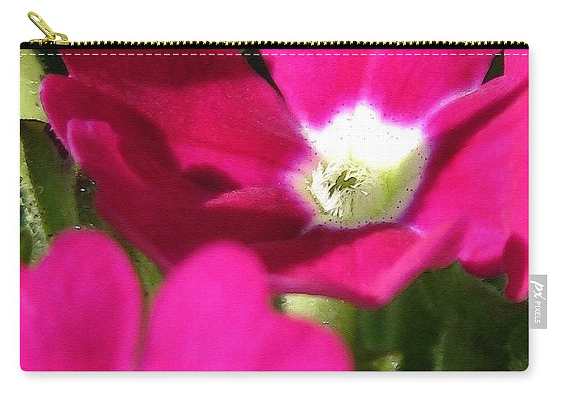 Verbena Carry-all Pouch featuring the painting Verbena From The Ideal Florist Mix by J McCombie