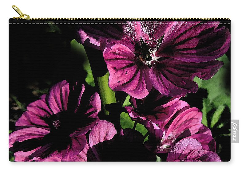 Flower Carry-all Pouch featuring the photograph Verbena by Mim White