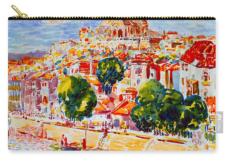 George Benjamin Luks Carry-all Pouch featuring the painting Verdun France by George Benjamin Luks