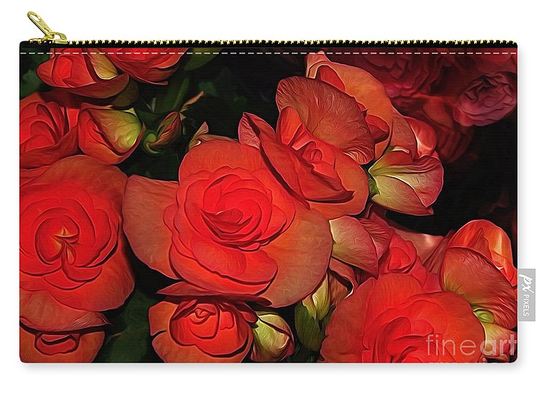 Photography Carry-all Pouch featuring the photograph Vermillion Fire by Kaye Menner