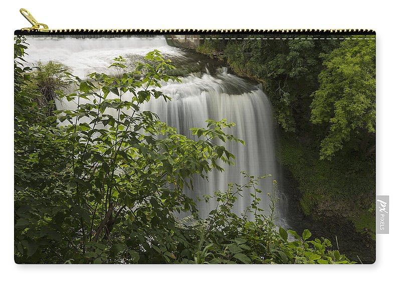Waterfall Carry-all Pouch featuring the photograph Vermillion River Falls 2 A by John Brueske