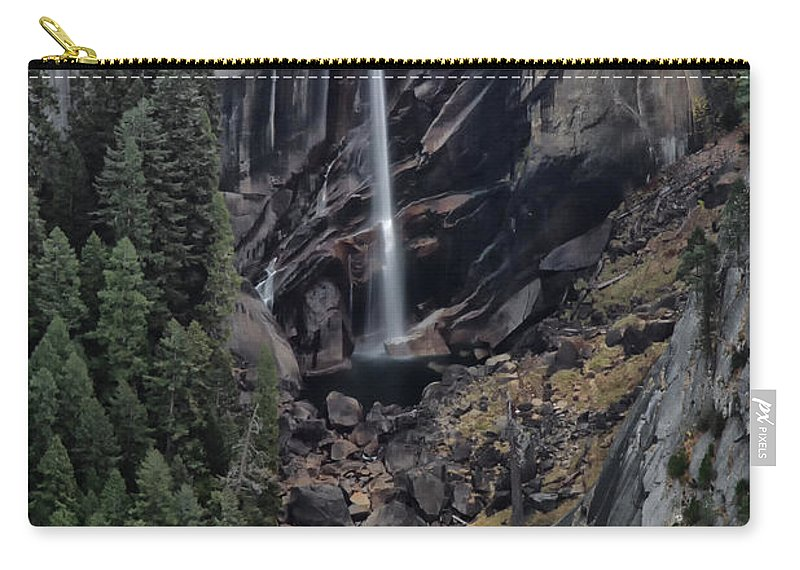 Waterfall Carry-all Pouch featuring the photograph Vernal Falls by Erika Fawcett
