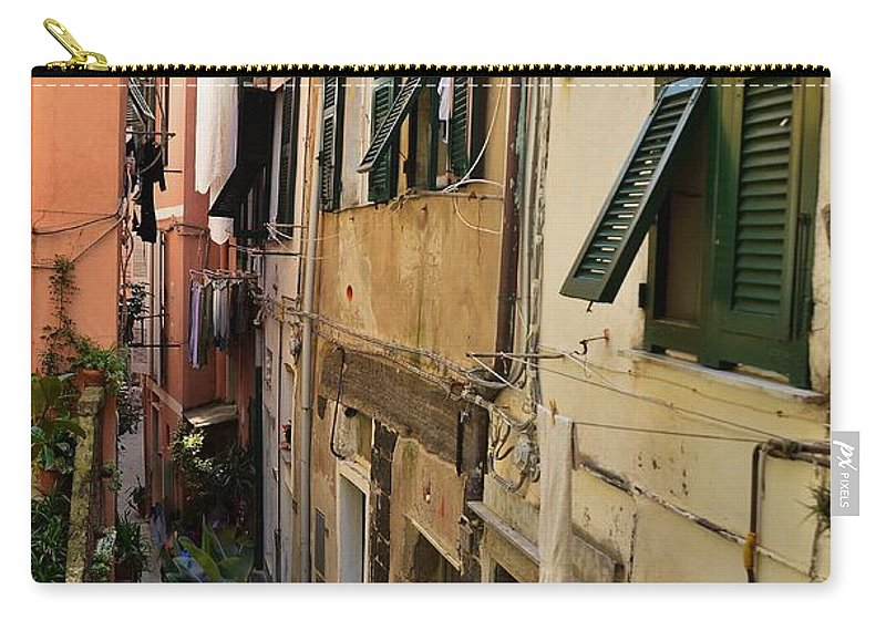 Vernazza Carry-all Pouch featuring the photograph Vernazza Street by Dany Lison