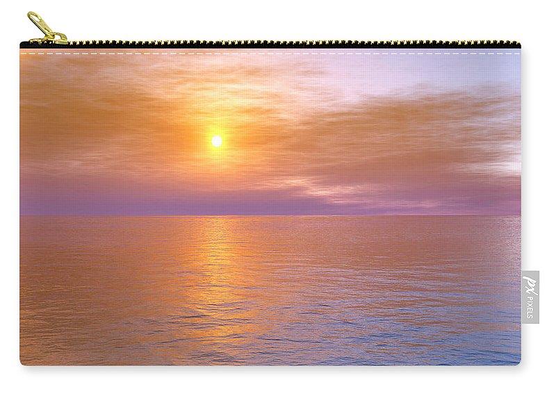 Ocean Carry-all Pouch featuring the digital art Verona Beach by Mark Greenberg