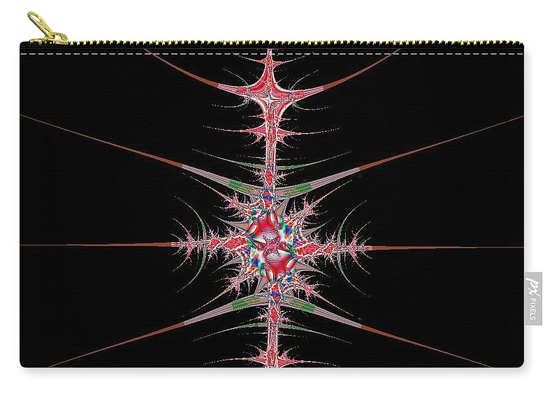 Digital Art Carry-all Pouch featuring the digital art Vertebrae by Dragica Micki Fortuna
