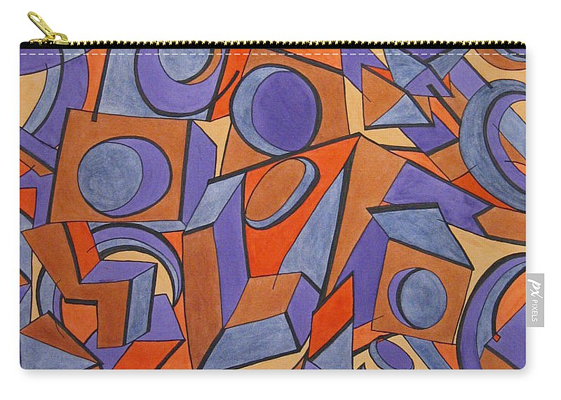Abstract Carry-all Pouch featuring the painting Vertigo by Barb Meade