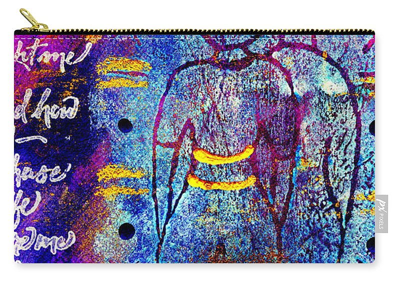 Woman Carry-all Pouch featuring the mixed media Very Close Friends by Angela L Walker