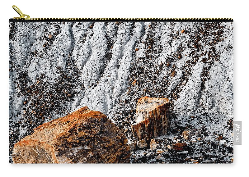 Digital Color Photo Carry-all Pouch featuring the digital art Very Old Logs by Tim Richards