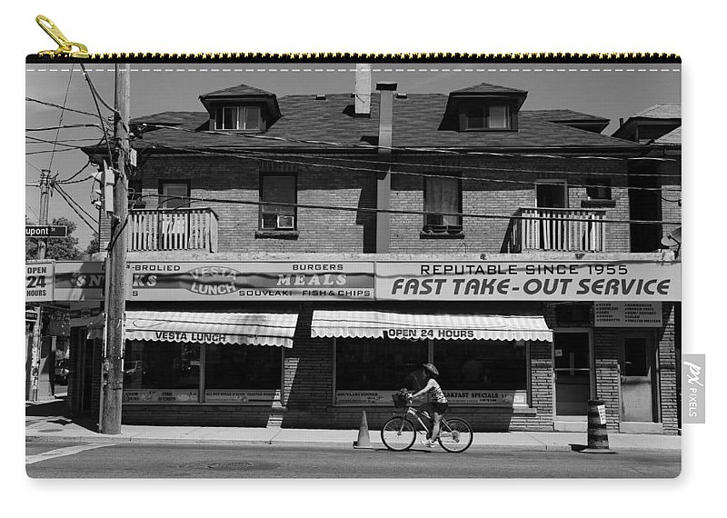 Vesta Carry-all Pouch featuring the photograph Vesta Lunch 1b by Andrew Fare
