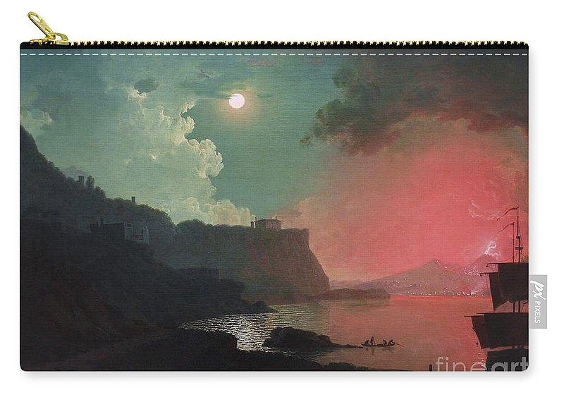 Pd: Reproduction Carry-all Pouch featuring the painting Vesuvius From Posillipo by Pg Reproductions