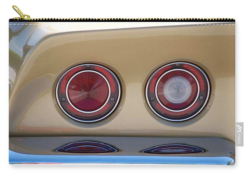Corvette Carry-all Pouch featuring the photograph Vette Lights by Rob Hans