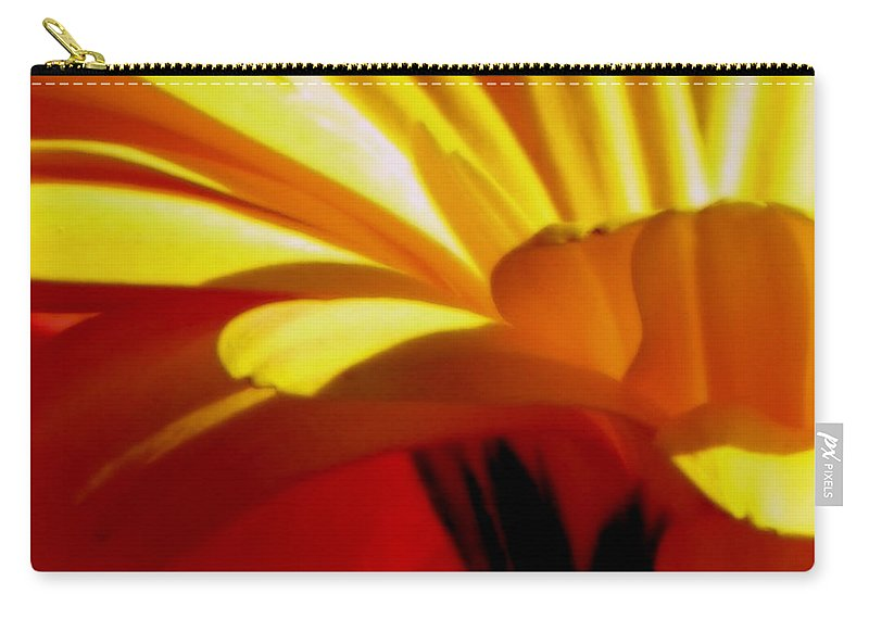 Flower Carry-all Pouch featuring the photograph Vibrance by Karen Wiles