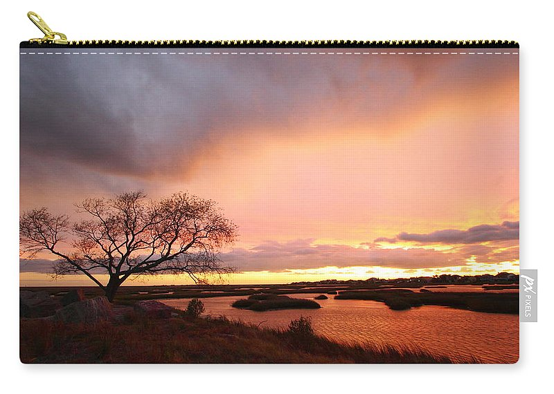 Galveston Carry-all Pouch featuring the photograph Storm At Dusk 2am-108350 by Andrew McInnes