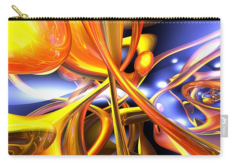3d Carry-all Pouch featuring the digital art Vibrant Love Abstract by Alexander Butler