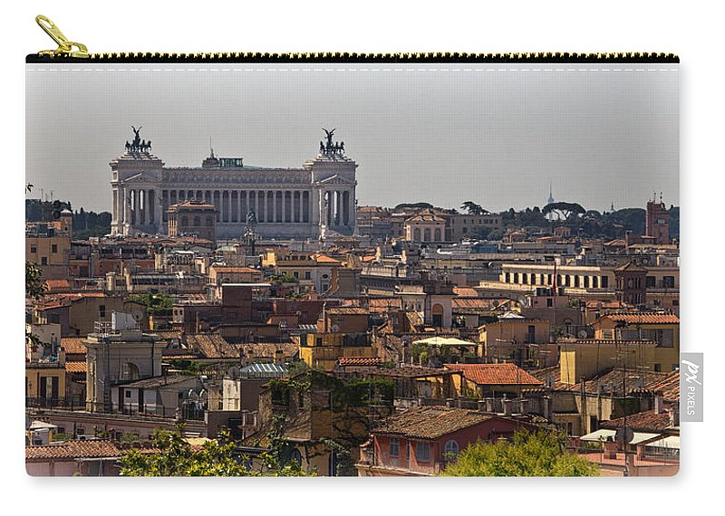 Victor Carry-all Pouch featuring the photograph Victor Emmanuel Monument by David Pringle