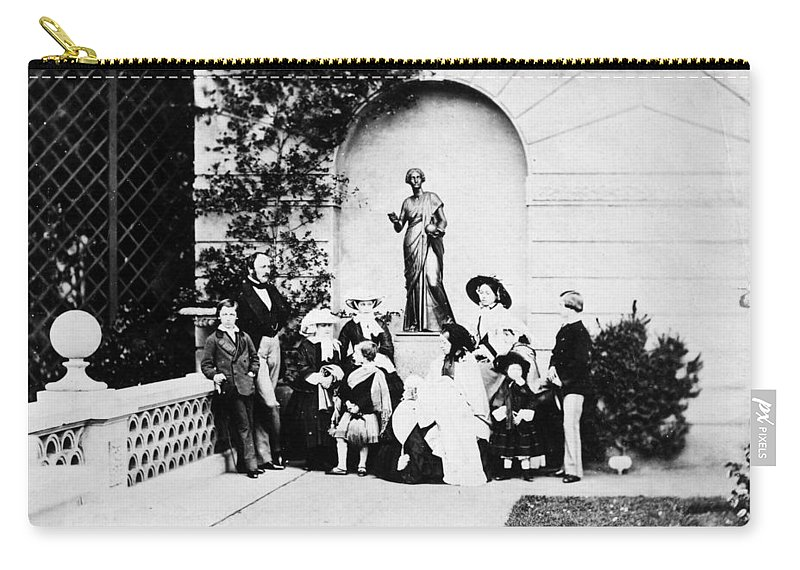 1857 Carry-all Pouch featuring the photograph Victoria & Family, 1857 by Granger