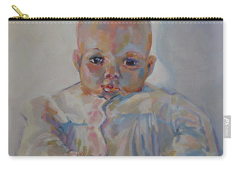 Madame Alexander Doll Carry-all Pouch featuring the painting Victoria I by Kimberly Santini
