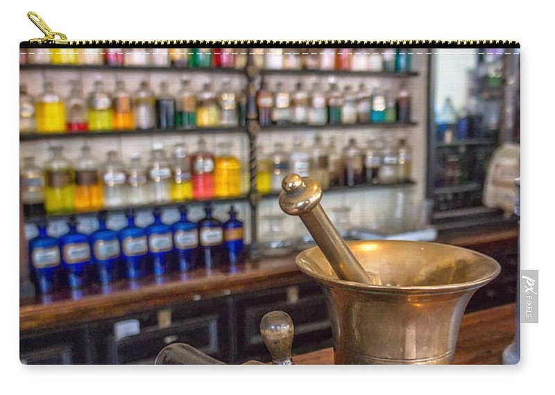 British Carry-all Pouch featuring the photograph Victorian Chemist Equipment by Adrian Evans