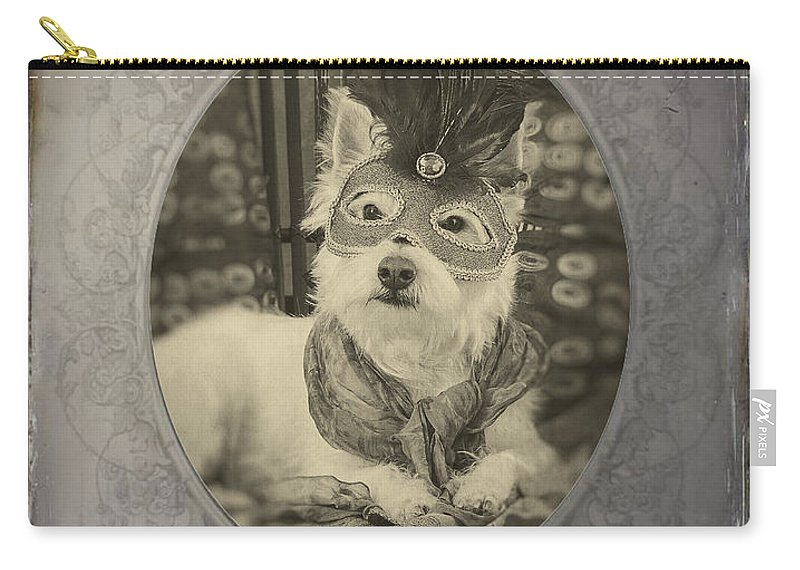 Westie Carry-all Pouch featuring the photograph Victorian Westie by Edward Fielding