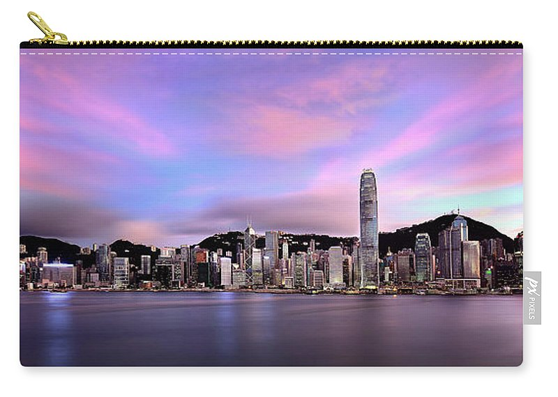Tranquility Carry-all Pouch featuring the photograph Victoric Harbour, Hong Kong, 2013 by Joe Chen Photography