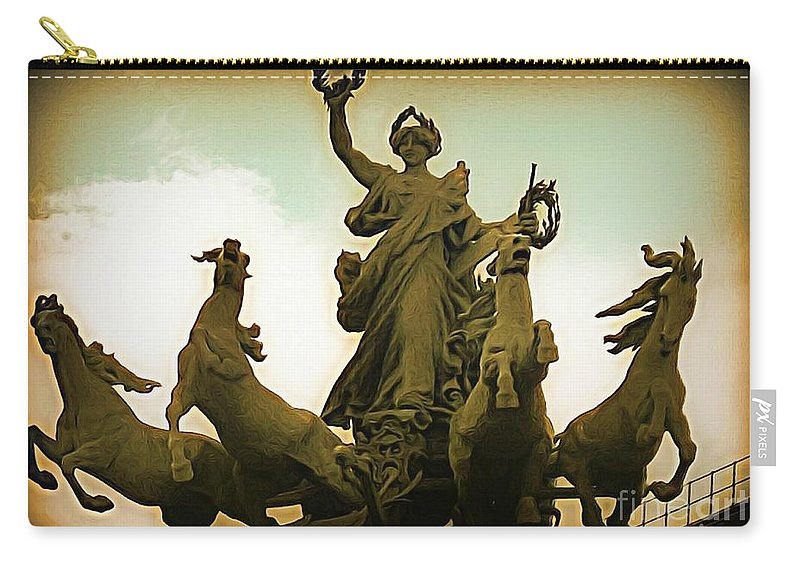Statues Carry-all Pouch featuring the photograph Victorious by John Malone